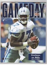 QUINCY CARTER SIGNED 2003 DALLAS COWBOYS vs. BUFFALO BILLS GAMEDAY PROGRAM w/COA