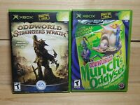 Oddworld Original Xbox Video Game Lot Stranger's Wrath & Munch's Oddysee Tested