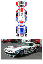 #48-50 Greenwood 1971 Corvette 1/64 scale DECAL AFX Tyco Lifelike Autoworld