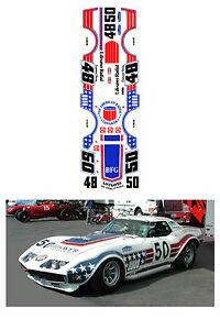 #48-50 Greenwood 1971 Corvette 1/64 scale DECAL AFX Tyco Lifelike Autoworld