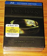 NEW Lord of the Rings Trilogy 15-Disc BLU-RAY Extended Box Set Collection LOTR