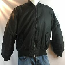 Ring Of Fire Black Nylong Flight Bomber Jacket NWT $60 Men's Size XLarge