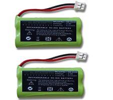 2 X AKKU für SIEMENS GIGASET A240 A240 weib A240 DUO Telefon accu Batterie