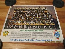 VTG 1983 GREEN BAY PACKERS TEAM PHOTO POSTER- HEILEMAN'S OLD STYLE BEER WI
