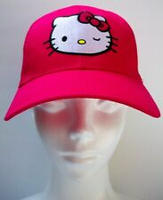 Hello Kitty Girl Cap One Size Adjustable Magenta and Violet Sanrio Embriodered