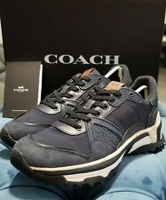 💯Coach Men's shoes Size 9.5 New Monochrome c143 runner style #3186 FREE SHIP
