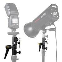 "MK Flash Shoe Umbrella Holder Mount Bracket Adapter For Light Stand Tripod 1/4"""