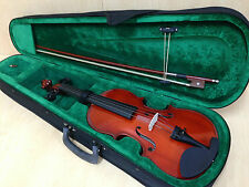 Caraya 1/8 Size Violin+Bow,Rosin,Chin-rest,Spare String Set,Foam Hard Case