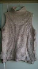 Womens size L beige/cream twist knit sleeveless jumper, bnwt, new look