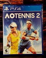 AO Tennis 2 - PS4 - Sony PlayStation 4 - Brand NEW - Sealed