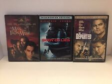 3 Leonardo DiCaprio DVDs Man In The Iron Mask, Body Of Lies & The Departed