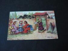 Louis Wain postcard, Tuck Oilette 6444, Louis Wain's Cats, Jappy and Happy