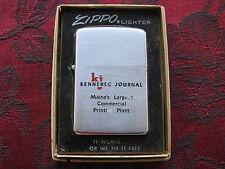 Zippo Lighter 1956 Advertising Kennebec Journal Maine w/Box