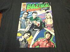 The Big Bang Theory T-shirt Medium black ripple junction Bazinga  Comic Book R2