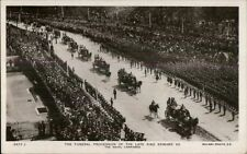 Funeral Procession King Edward VII c1910 Real Photo Postcard #2