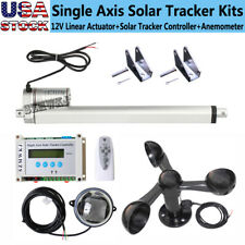 Solar Tracking Tracker 12 Dc Linear Actuator Lcd Controller Anemometer System