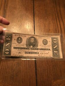 The confederate states of America One dollar bill/note