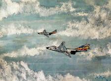 "F101 Voodoos 81st Tfw Raf Bentwaters Fine Art Print by Mick Flynn 8.49"" x 11.46"""