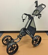 Black Caddytek One-Click 4-Wheel Golf Push Cart with Bonus Mesh Net Basket NEW