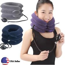 Neck Traction Collar Relief Shoulder Pain Relax Pillow