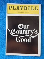 Our Country's Good - Nederlander Theatre Playbill - Opening Night - April 1999