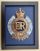 Large Scale Framed ROYAL ENGINEERS BADGE Plaque