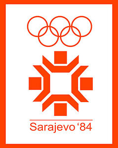 "1984 Sarajevo Winter Olympic Poster - 8"" x 10"" Photo"
