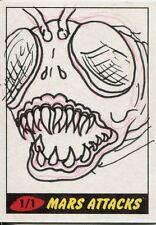 Mars Attacks Heritage Sketch Card By Sara
