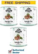 New Augason Farms Vegetable Stew Blend. Emergency Food Case of 3, 33 oz Cans