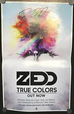 "Zedd - True Colors 14"" x 22"" VG+Promo Poster Signed"