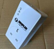 Simpler Networks HP200PT64BT2 200Mbps Powerline Passthrough Ethernet Adaptor