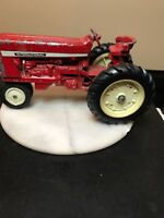 Vintage Toy Tractor. 1960S Diecast Metal ERTL Co Red International Harvester.