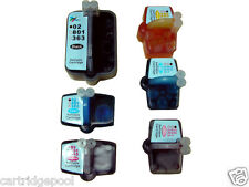 6 Refillable ink Cartridge for HP 02 C6280 C7200 C5100