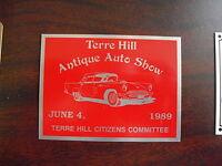 Aluminum Name Plate 1989 Terre Hill Antique Auto Show