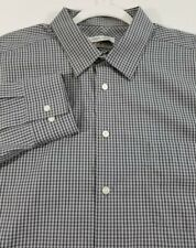 Joseph Abboud Mens Long Sleeve Button Up Dress Shirt 18 34 35 2XL Plaid Slim Fit