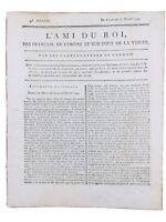 L'ami du Roi Moret sur Loing 1791 Autun Poitiers Protestant de Montauban Nîmes