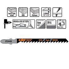 CMT: 5 lame per seghetto alternativo, tagli curvi, rapido, legno, pannelli JT244