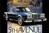 1983 Chrysler NEW YORKER FIFTH 5th AVENUE Brochure / Catalog w/ Color Chart
