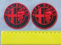 PATCH  ALFA ROMEO PZ 2 RICAMATO ROSSO TERMOADESIVO DIAM.7-COD.715