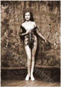 Vintage 117 1920's Erotic Female Nude Sepia Retro Art PHOTO REPRINT A4 A3 or A2