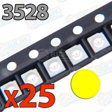 25x LED SMD3528 AMARILLO 20mA brillo smd 3528 yellow