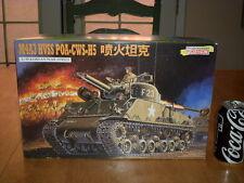 KOREAN WAR, U.S.A.  M4A3 HVSS POA-CWS-H5 FLAME GUN TANK, Plastic Model Kit, 1/35