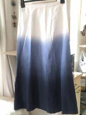 Linen Skirt Beautiful Ombre Size 16 Saks 5th Avenue
