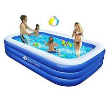 """New listing Family Inflatable Swimming Pool, 118""""x72""""x20 4; Full-Sized Inflatable Lounge"""