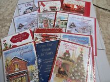 CHRISTMAS CARDS - RELATIONS, OPEN - DROP DOWN LISTING A -SISTER, BROTHER, SON...