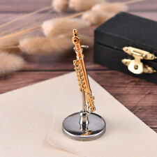 Mini flute Model With Support Miniature Musical Instruments Decoration Gifts