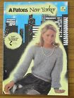 PATONS KNITTING - 657 NEW YORKER LADIES JUMPER JACKET VEST MISTI 8 & 12 PLY