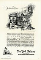 1920s BIG Original Vintage New York Galleries Antique Interior Art Print Ad g