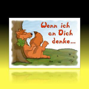 10 lustige Postkarten Grußkarten Freundschaft Liebe Cartoon ich denk an dich