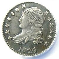 1824/2 Capped Bust Dime 10C - ANACS XF40 Detail (EF40) - Rare Certified Coin!